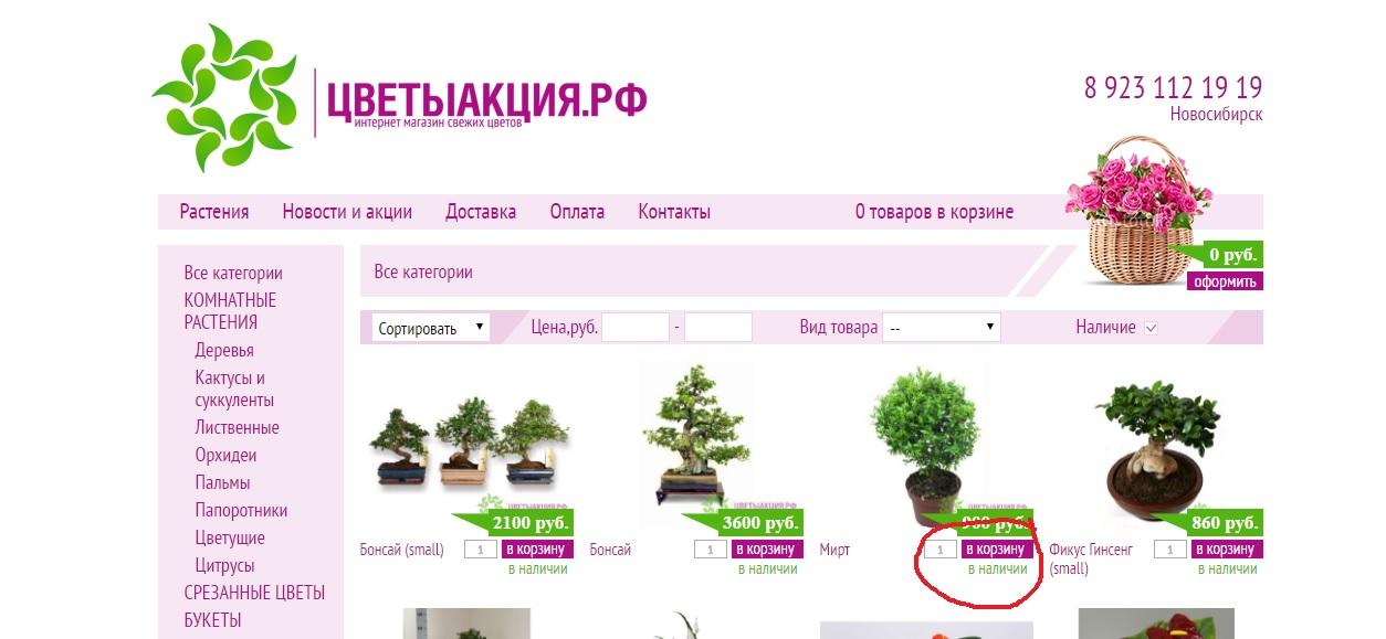 Интернет магазин растений рейтинг, день рождения